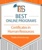 Best Online Programs Certificate in Human Resources